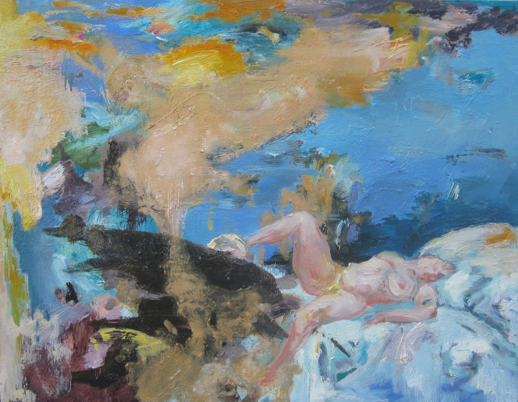 Danae, 2010. Oil on canvas 35x45cm