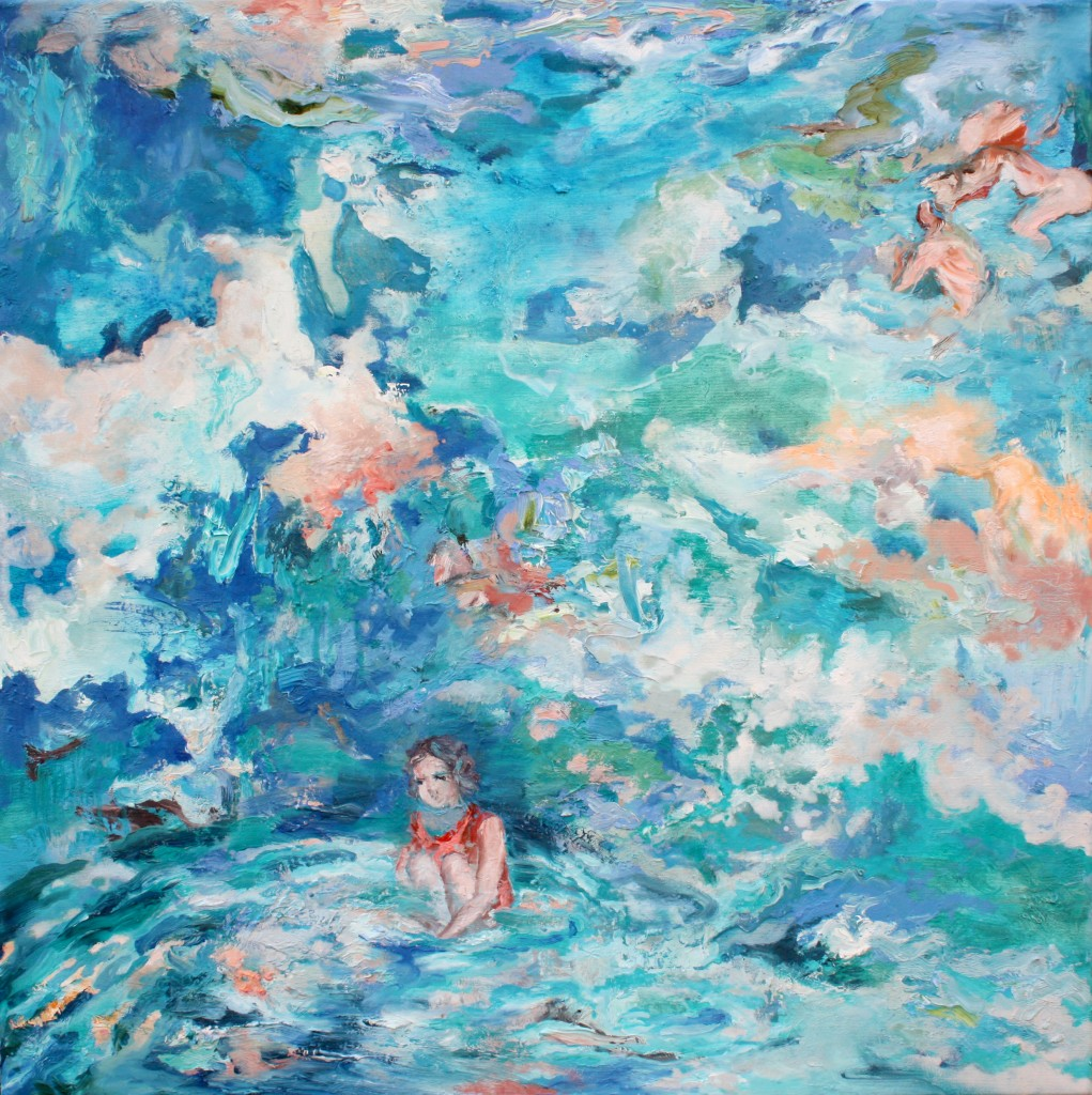 Voices of the Light Breeze, 2014. Oil on canvas 75x75cm