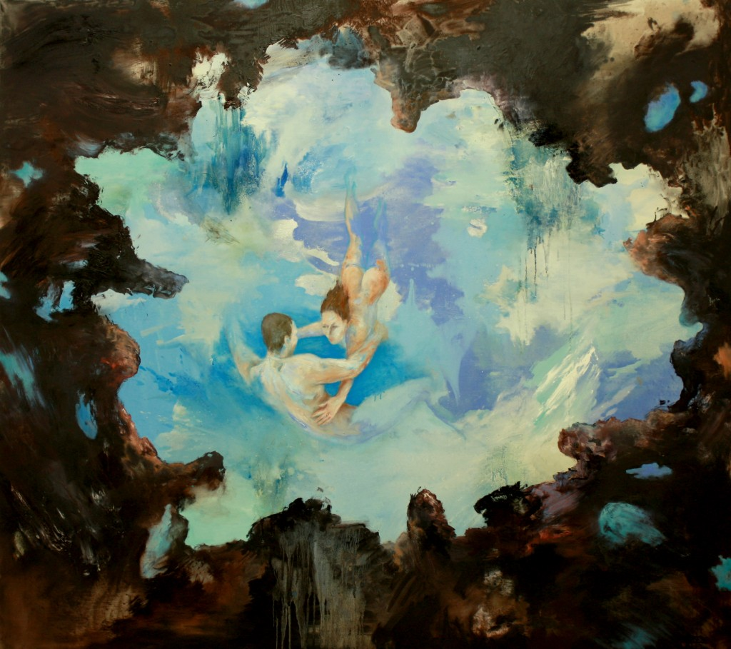 Underwater Couple, 2011 Oil on canvas 170x190cm