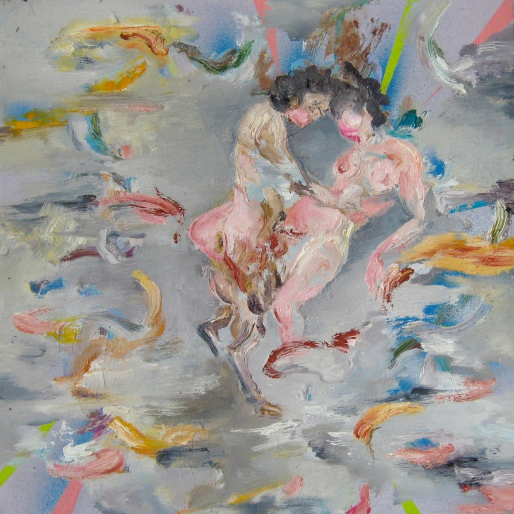 Faun and Nymph, 2010 Oil on canvas 35x35cm