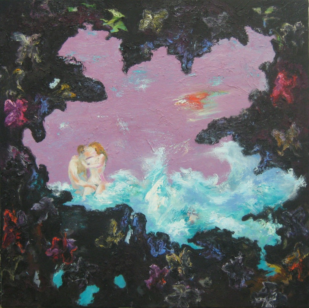 Suddenly Pink Sky, 2011 Oil on canvas 70x70cm