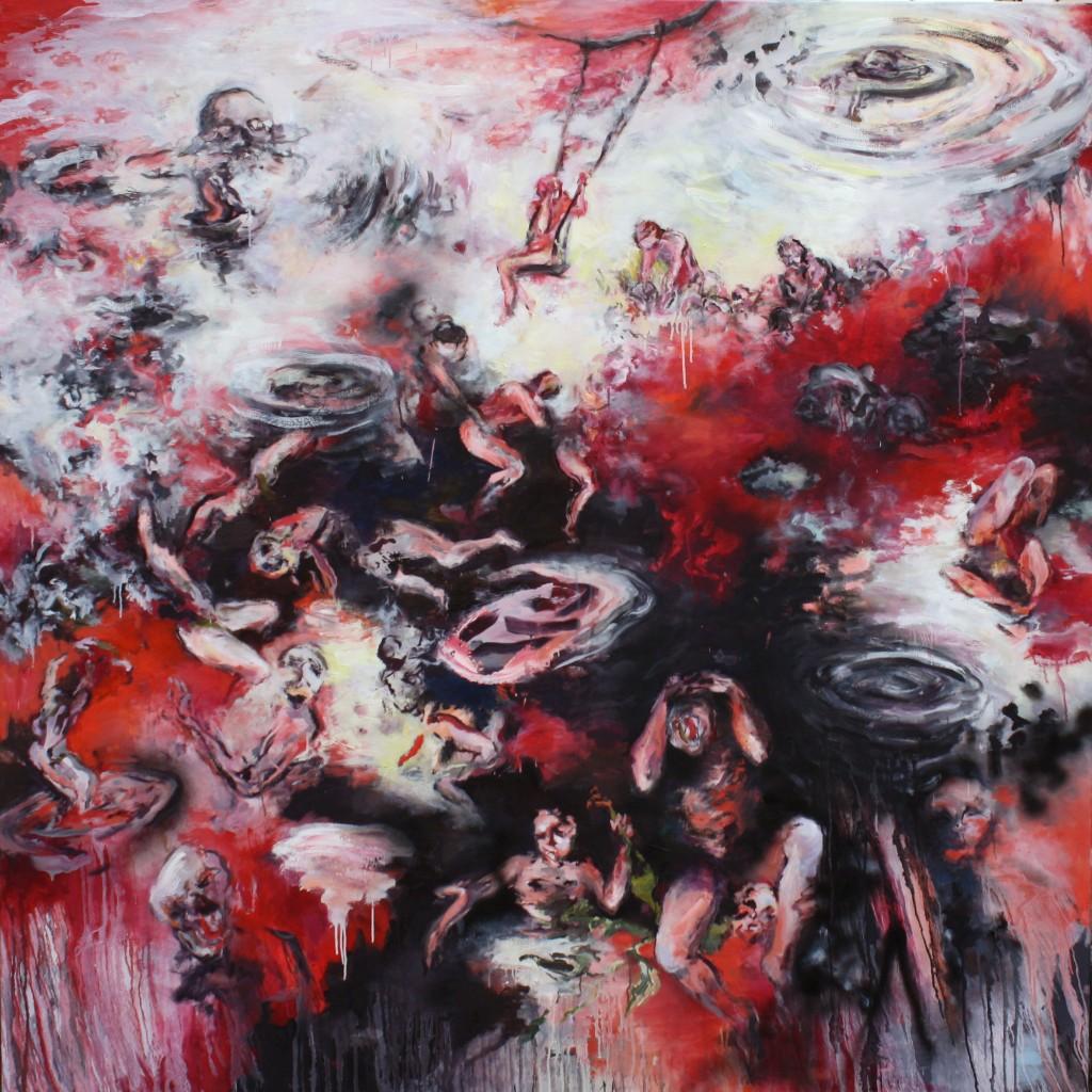 Strange Attractions, 2017 Oil on canvas 190x190cm