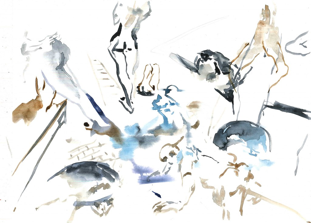 No title (After Beckmann), 2020 Aquarelle on paper 24x32cm