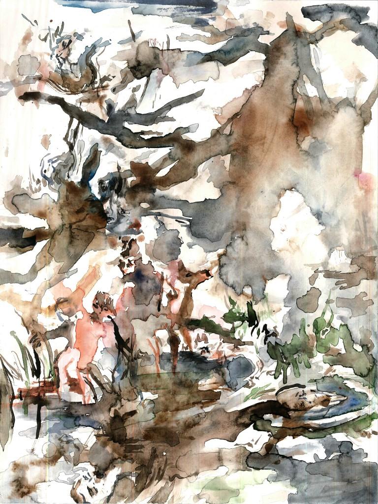 No title (Bodycsape #16), 2020 Aquarelle on paper 32x24cm