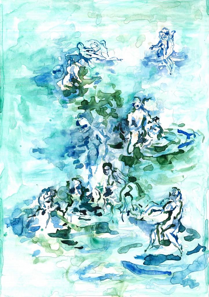 No title (Bodyscape #14), 2019 Aquarelle on paper 30x21cm