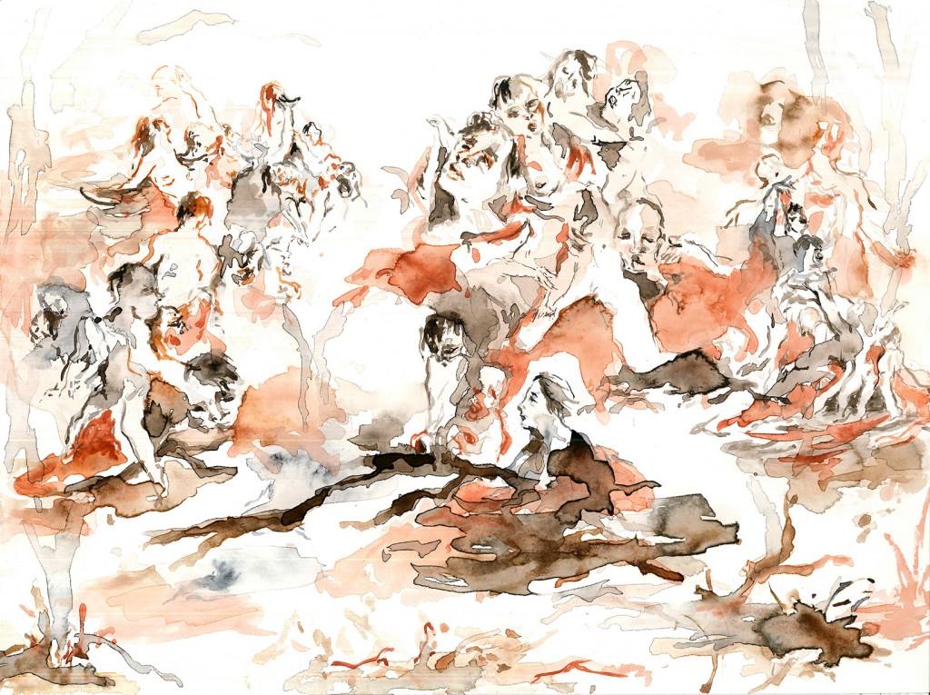 No title (Bodyscape #18), 2020 Aquarelle on paper 32x24cm