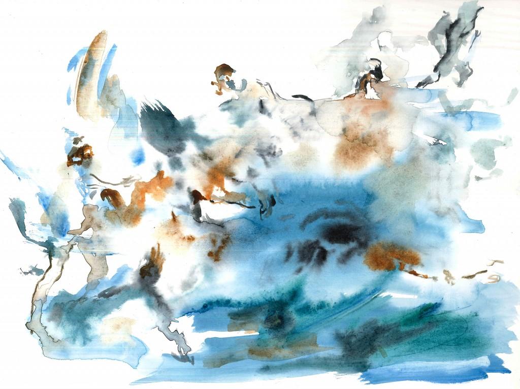 No title (Bodyscape #19), 2020 Aquarelle on paper 32x24cm