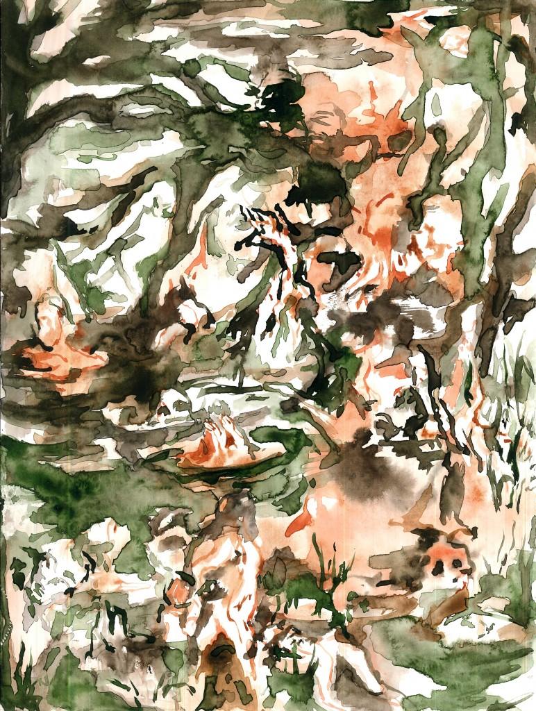 No title (Bodyscape #20), 2020 Aquarelle on paper 32x24cm