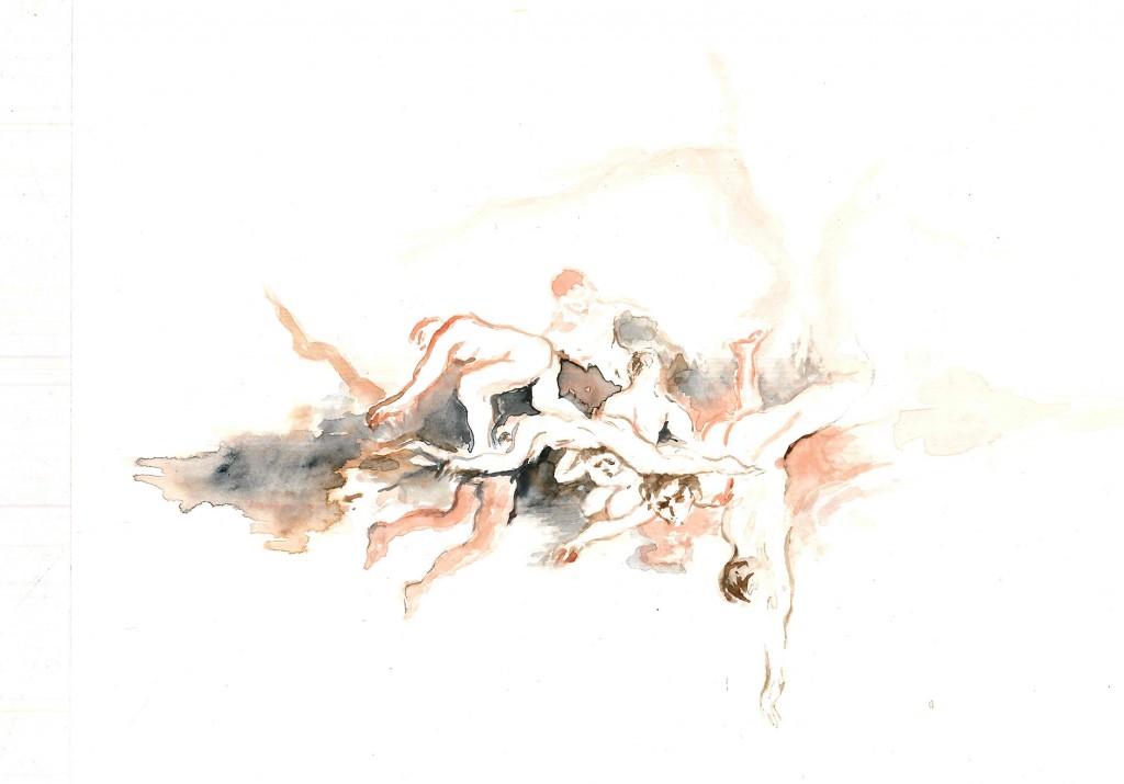 No title (Bodyscape 23), 2020 Aquarelle on paper 17x24cm