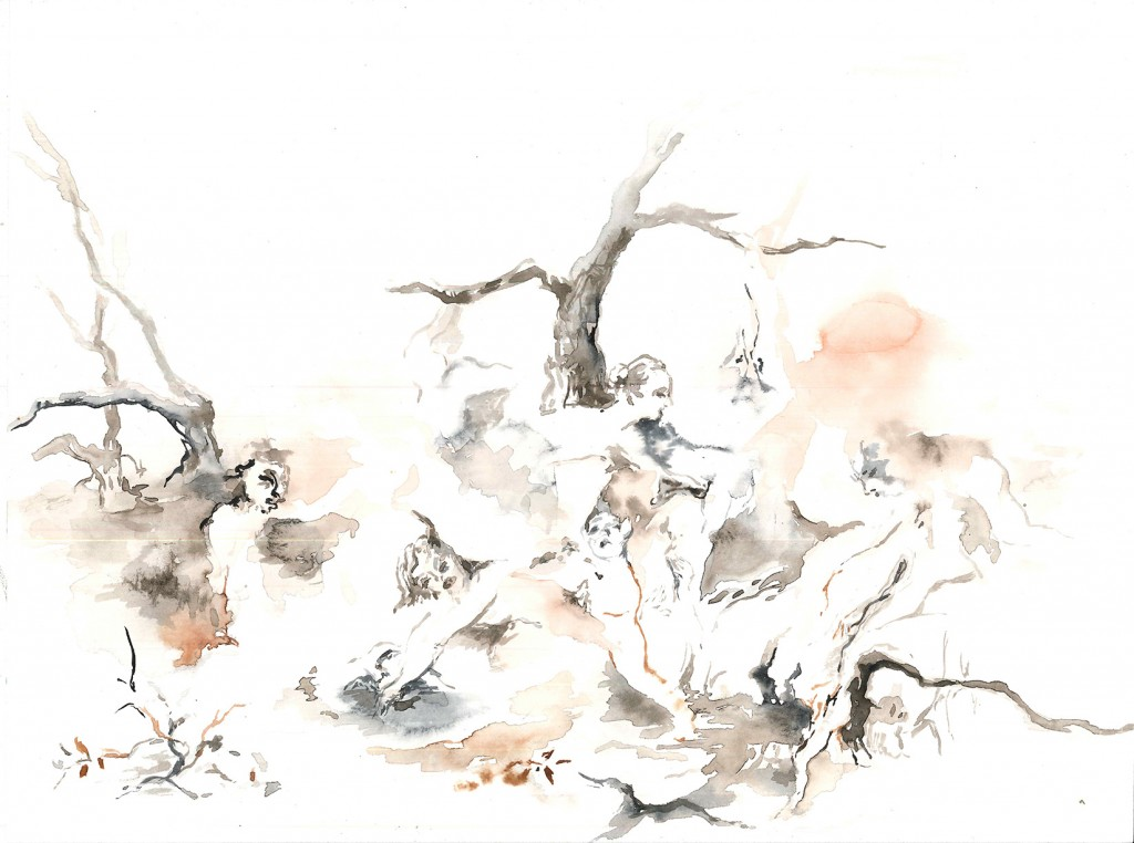 No title (Bodyscape #26), 2020 Aquarelle on paper 24x32cm