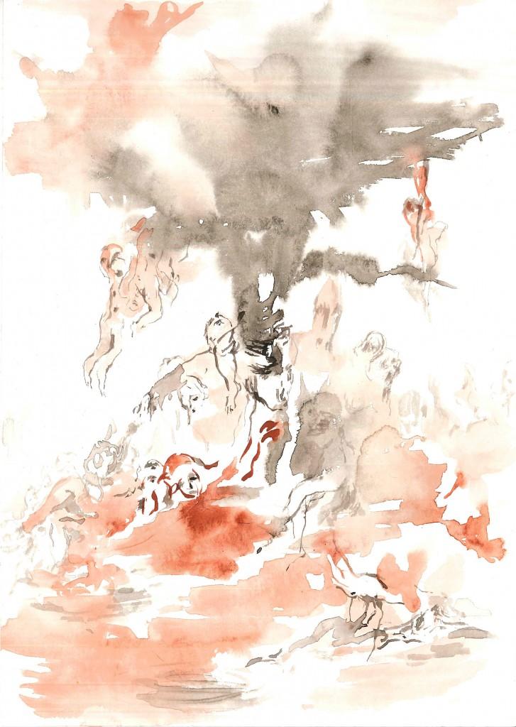 No title (Bodyscape #31), 2020 Aquarelle on paper 24x17cm