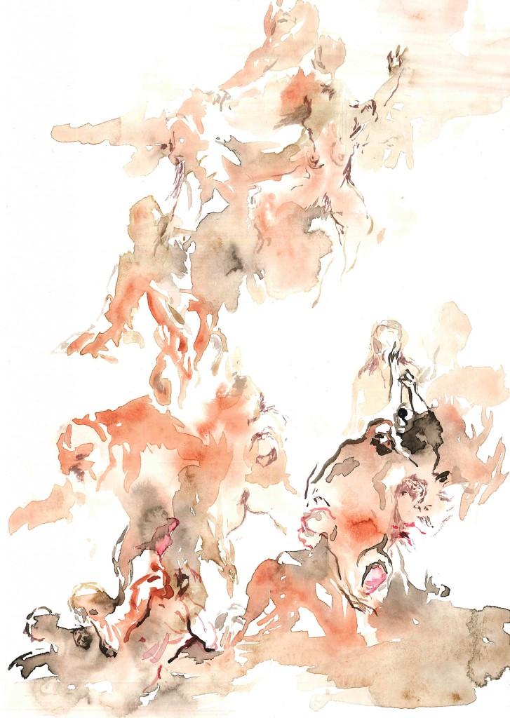No title (Bodyscape #34), 2020 Aquarelle on paper 24x17cm(1)