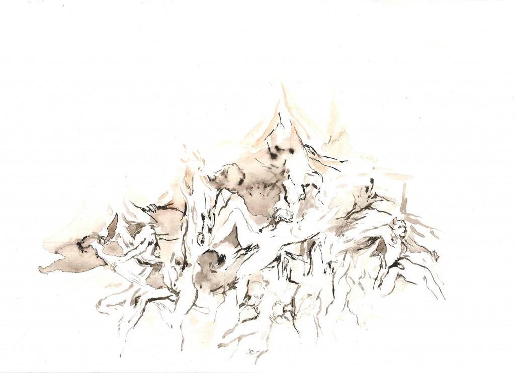 No title (Bodyscapes #28), 2020 Aquarelle on paper 17x24cm