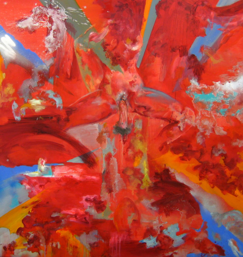 Holy Red Painting, 2009 Oil and car paint on canvas 190x180cm